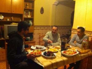 En la cena