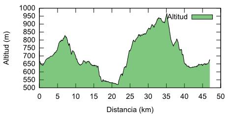 Altimetría de la marcha de Requena
