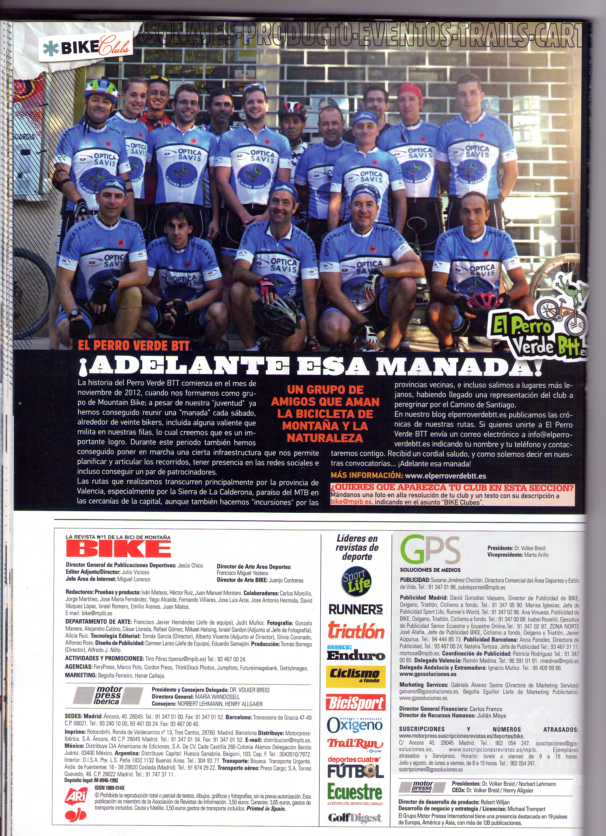 Bike edición impresa Febrero 2016